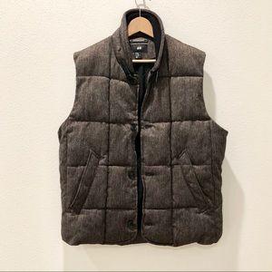 NWOT H&M Men Padded Vest in Dark Brown